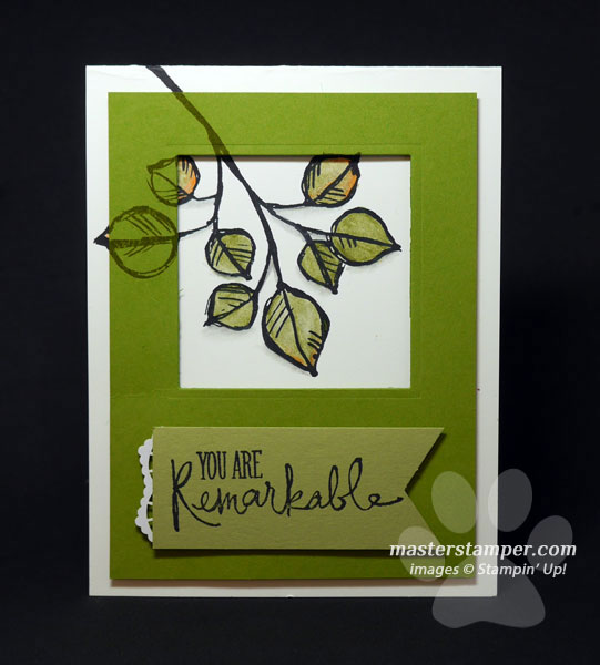 17200301 – Leafy Watercolor Window Card